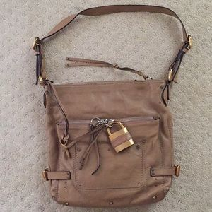 Chloe shoulder bag light brown(latte color)